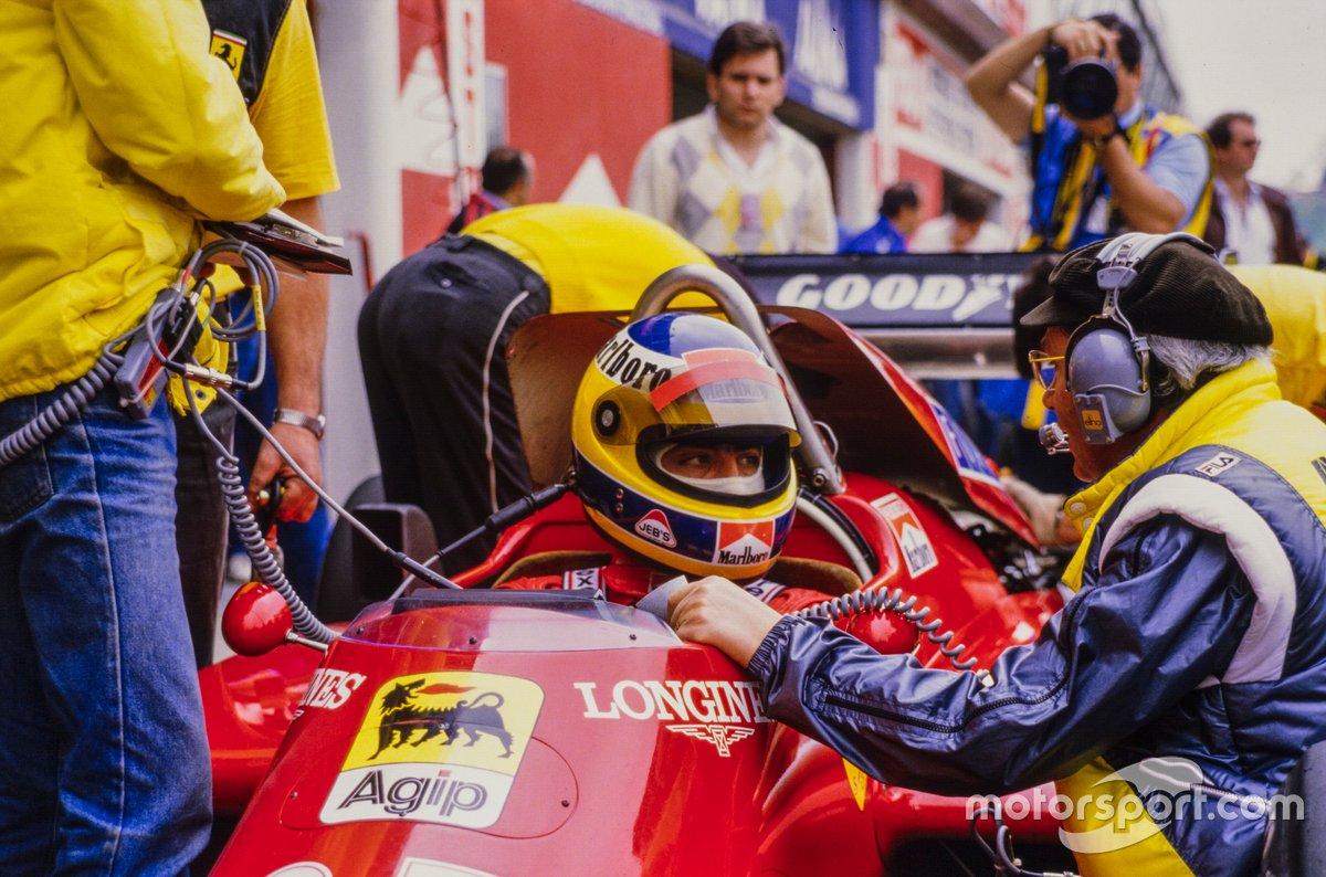 Michele Alboreto, Ferrari, con Antonio Tomaini