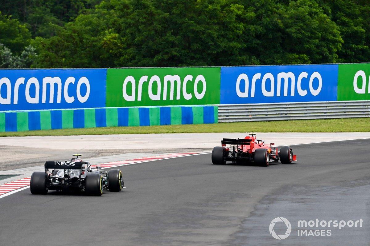 Charles Leclerc, Ferrari SF1000, Valtteri Bottas, Mercedes F1 W11