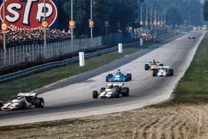 Howden Ganley, BRM P160, Jo Siffert, BRM P160, Chris Amon, Matra MS120B, Peter Gethin, BRM P160, Jackie Oliver, McLaren M14A