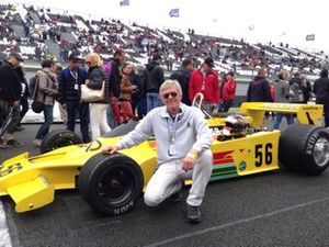 Ricardo Divila with a Copersucar F1 car