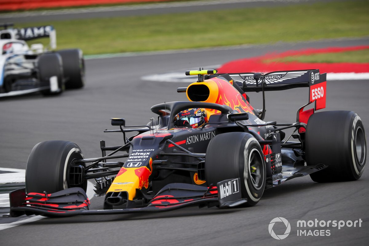 Alex Albon, Red Bull Racing RB16, George Russell, Williams FW43