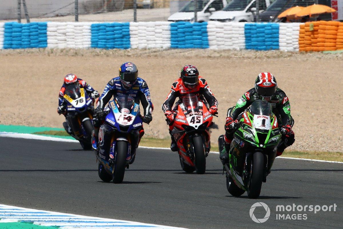 Jonathan Rea, Kawasaki Racing Team, Toprak Razgatlioglu, Pata Yamaha, Scott Redding, Aruba.it Racing Ducati
