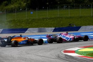 Серхио Перес, Racing Point RP20, и Ландо Норрис, McLaren MCL35