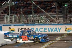 Stewart Friesen, Halmar Friesen Racing, Chevrolet Silverado Halmar International celebrates