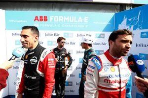 Sébastien Buemi, Nissan e.Dams, Antonio Felix da Costa, DS Techeetah, Mitch Evans, Jaguar Racing, Jérôme d'Ambrosio, Mahindra Racing