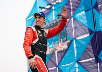 Sébastien Buemi, Nissan e.Dams, 3rd position, on the podium