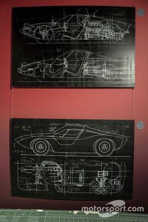 Dibujos de la exposición de Le Mans 66