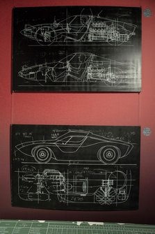 Le Mans 66 exhibition drawings