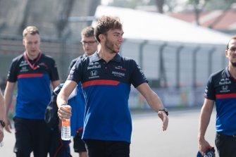 Pierre Gasly, Toro Rosso walks the track