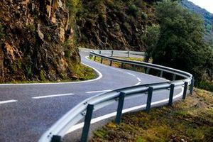 Asphaltsektion der Rallye Spanien