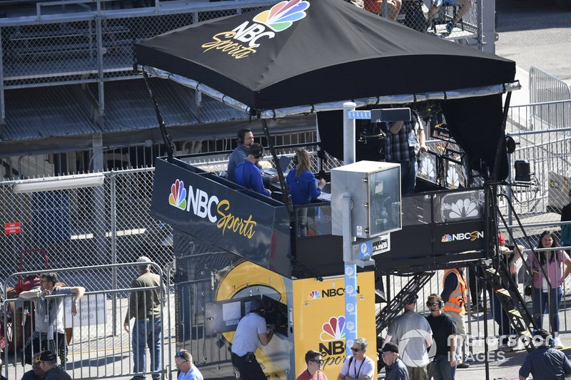 NBC pit lane TV booth