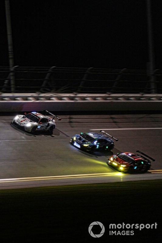 #912 Porsche GT Team Porsche 911 RSR - 19, GTLM: Laurens Vanthoor, Earl Bamber, Mathieu Jaminet, #44 GRT Magnus Lamborghini Huracan GT3, GTD: John Potter, Andy Lally, Spencer Pumpelly, Marco Mapelli, #47 Precision Performance Motorsports Lamborghini Huracan GT3, GTD: Brandon Gdovic, Eric Lux