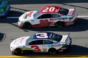 Austin Dillon, Richard Childress Racing, Chevrolet Camaro and Erik Jones, Joe Gibbs Racing, Toyota Camry Sports Clips