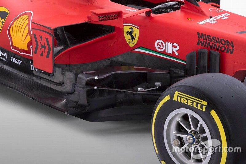 Ferrari SF1000, dettagli sidepods