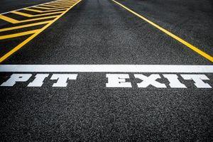 Pit exit detail