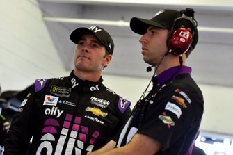 Jimmie Johnson, Hendrick Motorsports, Chevrolet Camaro Ally and Cliff Daniels