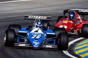 Raul Boesel, Ligier JS21 Ford, Patrick Tambay, Ferrari 126C3, al GP d'Olanda del 1983