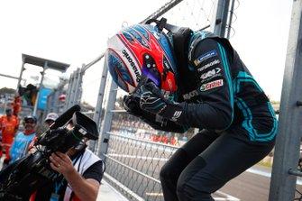 Mitch Evans, Jaguar Racing, célèbre sa victoire