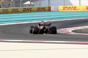 Max Verstappen, Red Bull Racing RB15, kicks up sparks