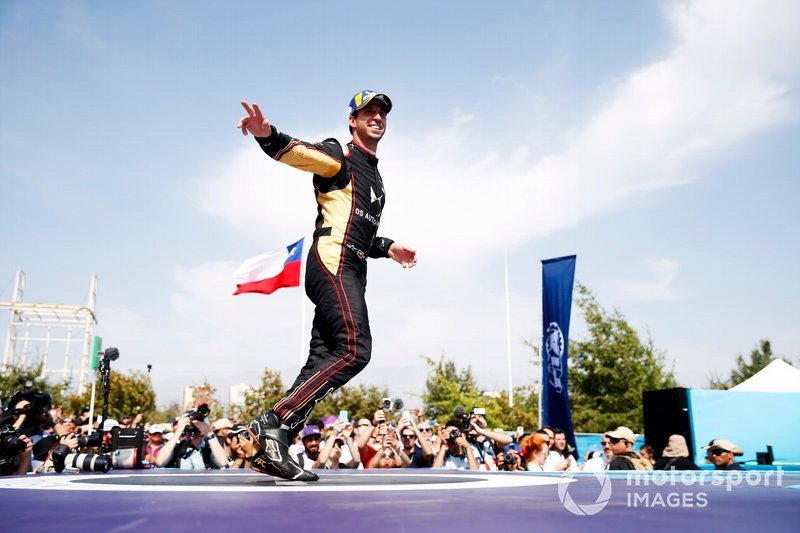 Antonio Felix da Costa, DS Techeetah, on the podium