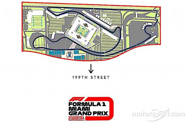 Le tracé du circuit de Miami