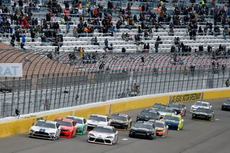 Justin Allgaier, JR Motorsports, Chevrolet Camaro BRANDT and Myatt Snider, Richard Childress Racing, Chevrolet Camaro TaxSlayer