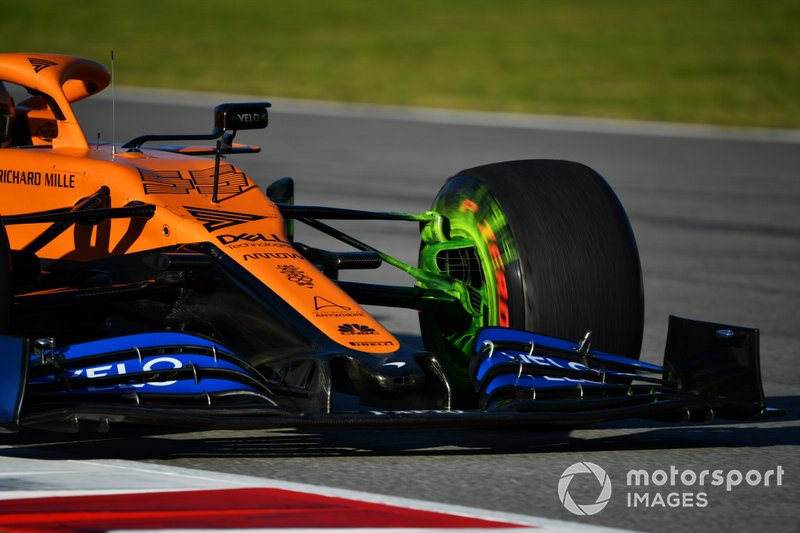 Aero paint on Carlos Sainz Jr., McLaren MCL35