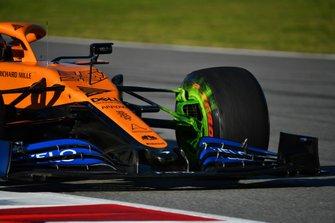 Paraffina sulla macchina di Carlos Sainz Jr., McLaren MCL35
