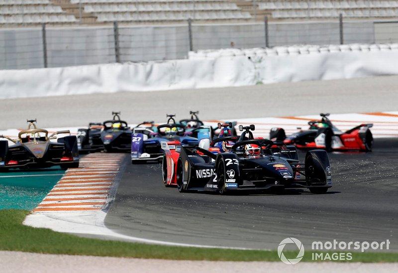 Sébastien Buemi, Nissan e.Dams, Nissan IMO2 Pascal Wehrlein, Mahindra Racing, M6Electro, Antonio Felix da Costa, DS Techeetah, DS E-Tense FE20