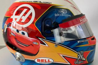 Helmet design of Romain Grosjean, Haas F1 Team