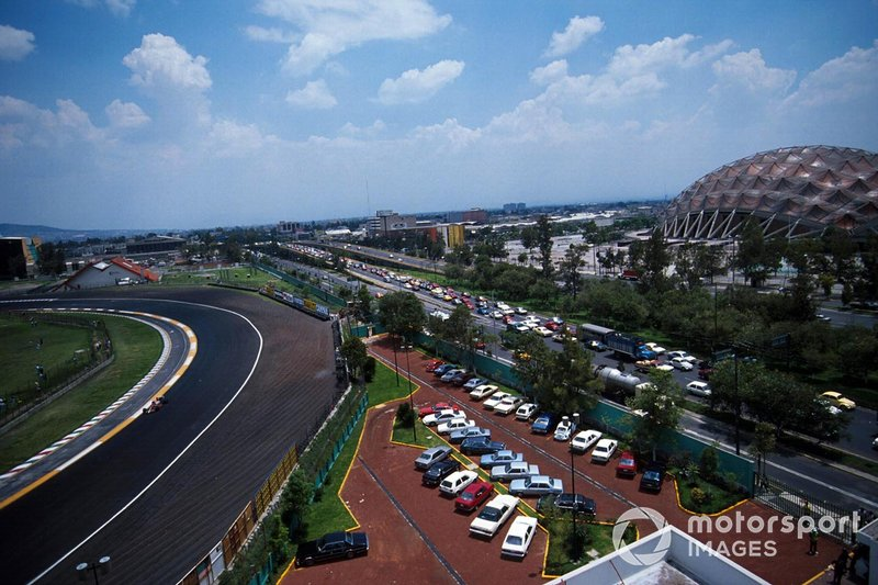 Curva di Peralta al GP del Messico del 1990