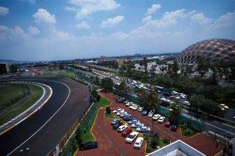 Peralta-Kurve im Autodromo Hermanos Rodriguez in Mexico City