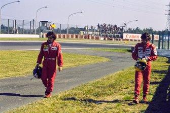 Alain Prost, Ferrari and Ayrton Senna, McLaren, al GP del Giappone del 1990