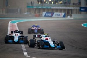 Robert Kubica, Williams FW42, leads George Russell, Williams Racing FW42, and Pierre Gasly, Toro Rosso STR14
