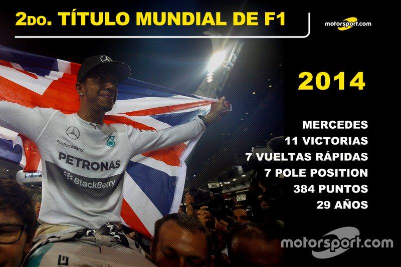 Lewis Hamilton, Mercedes Título Mundial 2014