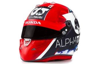 Helmet of Daniil Kvyat, AlphaTauri
