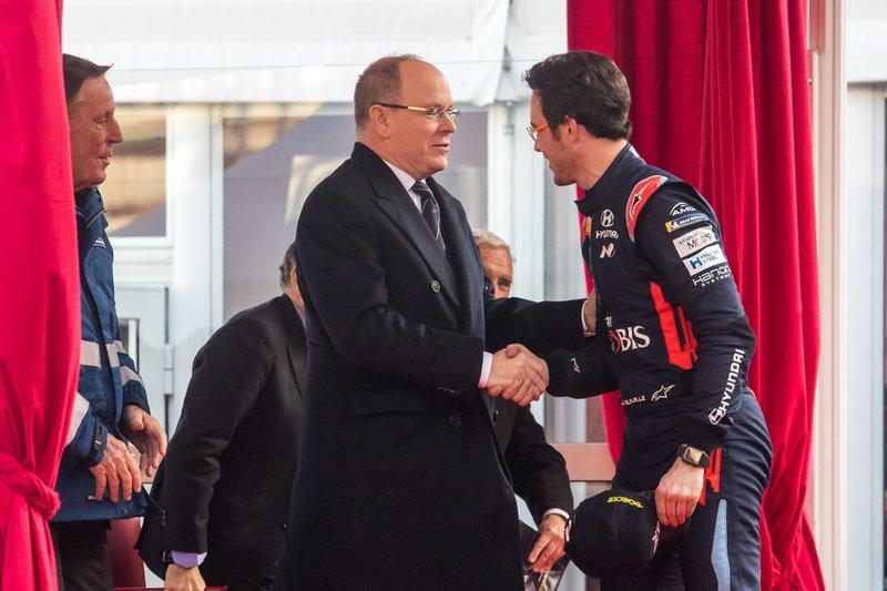 Thierry Neuville, Hyundai Motorsport con Albert II, Principe di Monaco