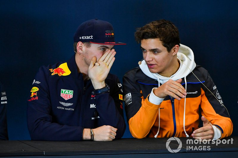 Press conference, Max Verstappen, Red Bull Racing and Lando Norris, McLaren