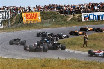 Renn-Action beim GP Niederlande 1969 in Zandvoort