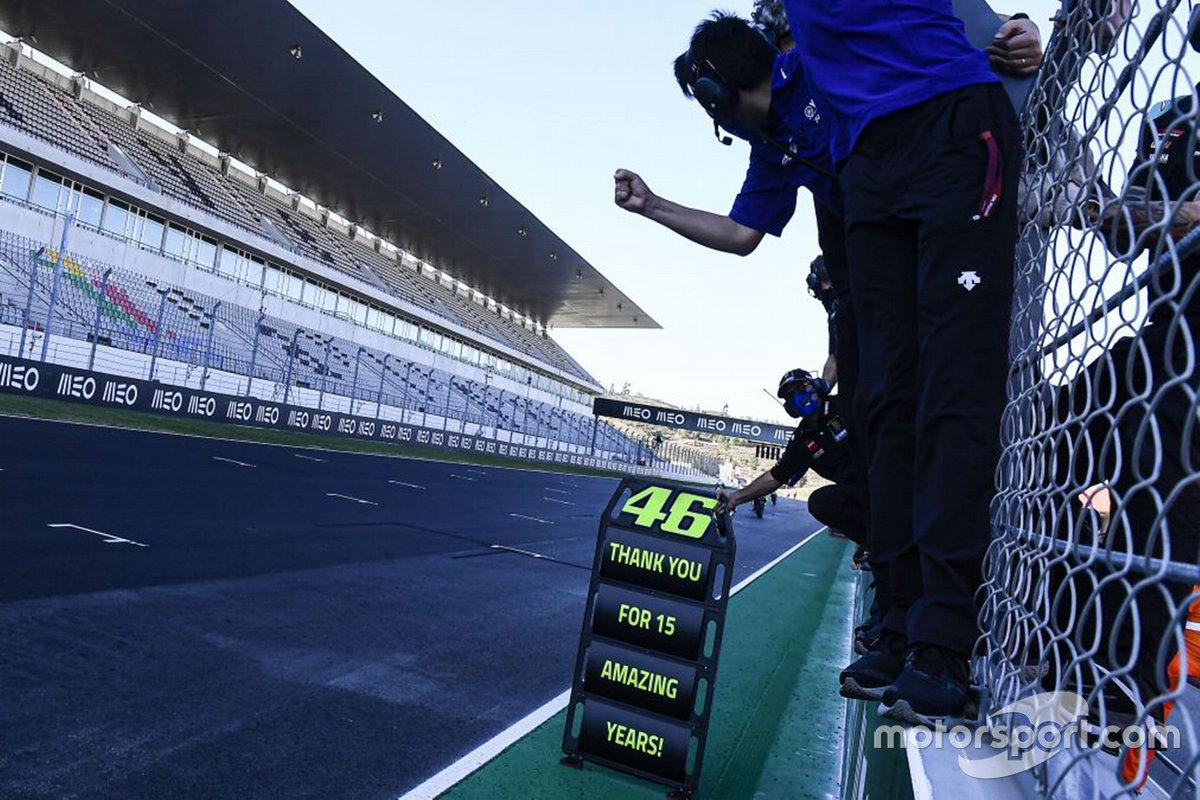 Nota de agradecimiento a Valentino Rossi, Yamaha Factory Racing