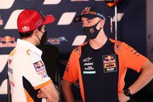 Marc Marquez, Repsol Honda Team, mit Pedro Acosta, Moto3