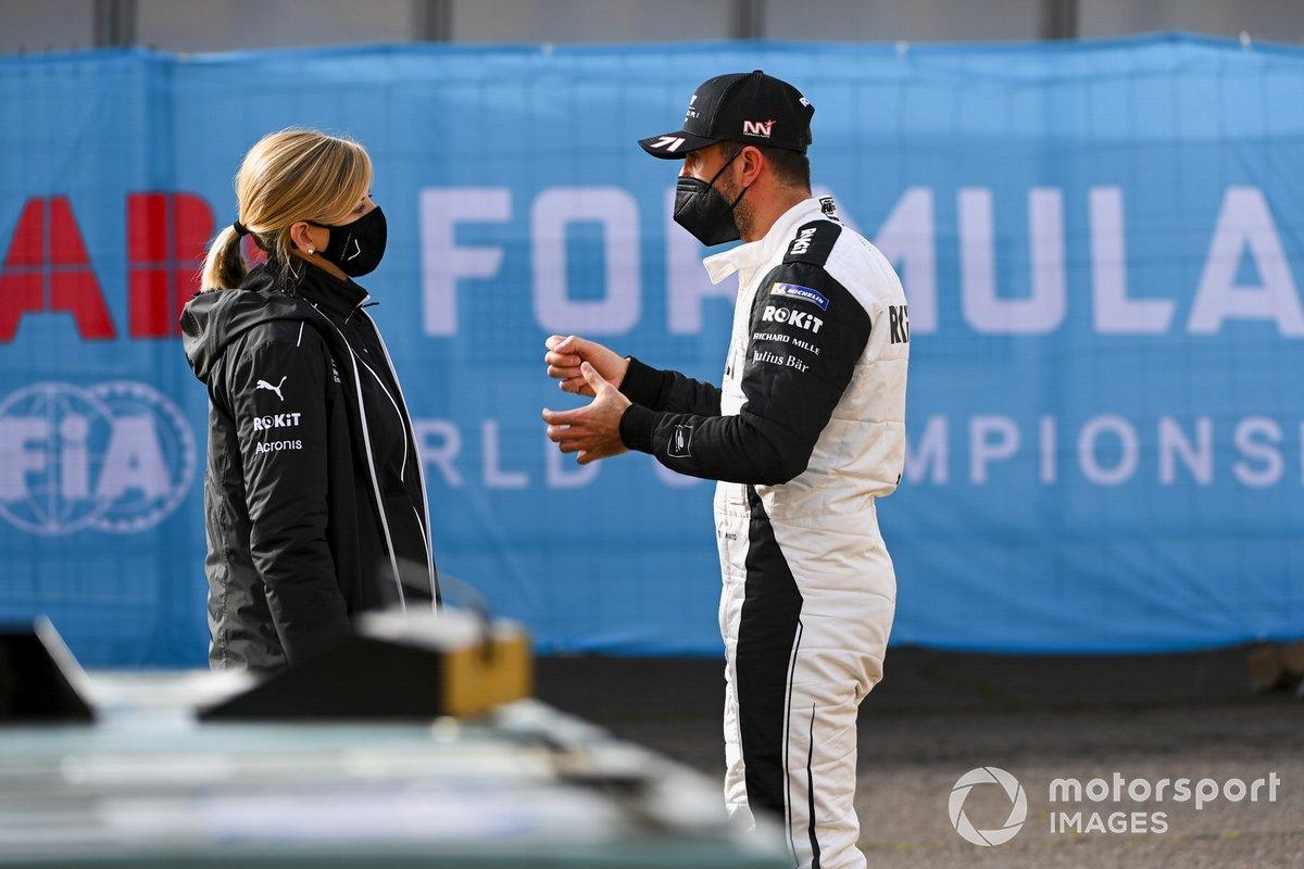 Susie Wolff, Team Principal, Venturi, con Norman Nato, Venturi Racing