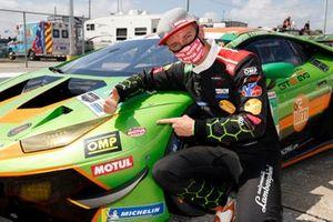 #19 GRT Grasser Racing Team Lamborghini Huracan GT3, GTD: Tim Zimmermann, IMSA Motul Pole Award GTD