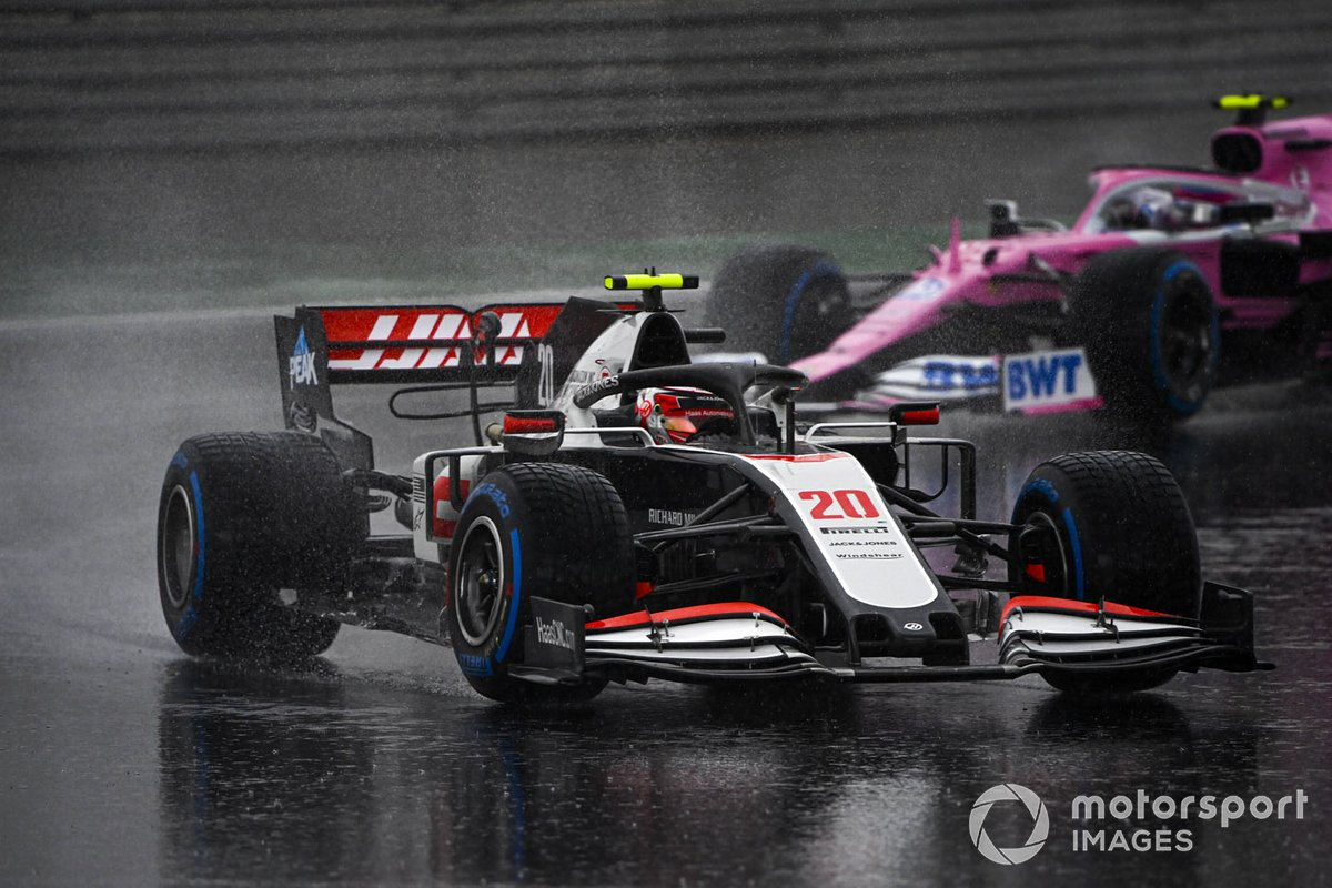 Kevin Magnussen, Haas VF-20, Lance Stroll, Racing Point RP20