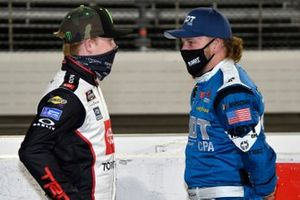 Ty Gibbs, Joe Gibbs Racing, Toyota Supra AutoByNelson.com, Jeffrey Earnhardt, JD Motorsports, Chevrolet Camaro TeamJDMotorsports.com