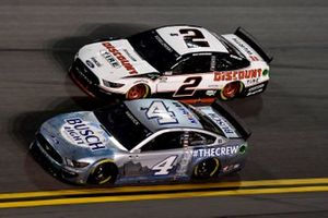 Kevin Harvick, Stewart-Haas Racing, Ford Mustang Busch Light #TheCrew Brad Keselowski, Team Penske, Ford Mustang Discount Tire