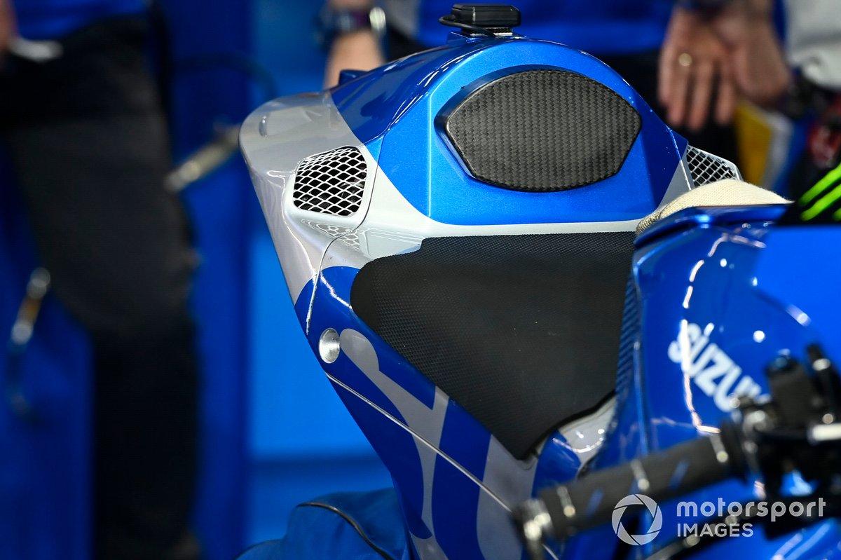 Detalle de la moto Team Suzuki MotoGP