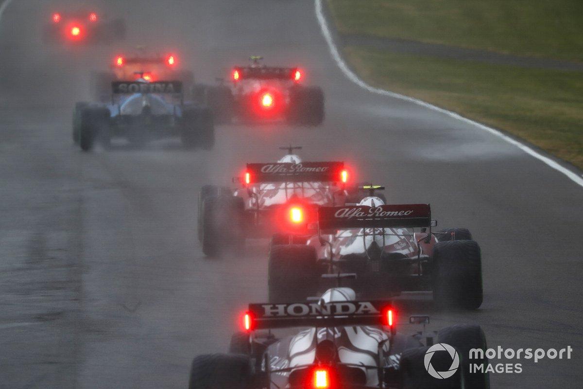 George Russell, Williams FW43B, Kimi Raikkonen, Alfa Romeo Racing C41, Antonio Giovinazzi, Alfa Romeo Racing C41, Yuki Tsunoda, AlphaTauri AT02