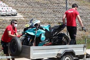 Valentino Rossi, Petronas Yamaha SRT crashed bike