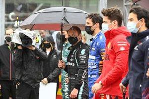 Valtteri Bottas, Mercedes W12 Daniel Ricciardo, McLaren MCL35M Charles Leclerc, Ferrari SF21